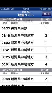 地震履歴新潟