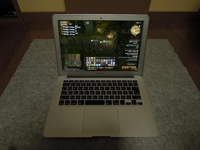 [FF14]MacBook Air 2013でファイナルファンタジー14を実際に約5分位プレイしてみた!(やっぱりPS3…)