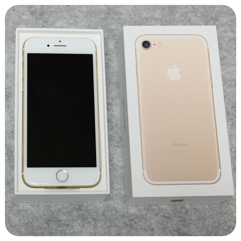 [iPhone7]ジェットブラックが入荷しないけど先にゴールドが手に入った!auの下取りの話とか