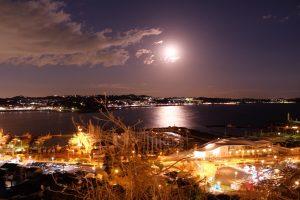 江ノ島 夜景 スーバームーン
