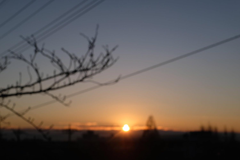 [写真]日の出 (2018/01/13)FUJIFILM X100F