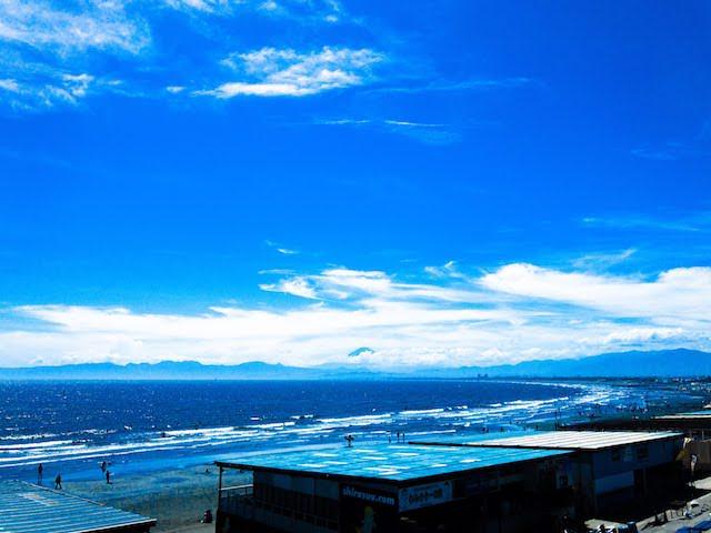 [写真日記]「江ノ島からの富士山」と「水中のあじさい」