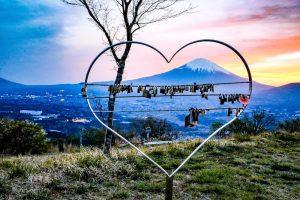 ハートと鍵と富士山