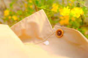 服の上に落ちた桜の花びら