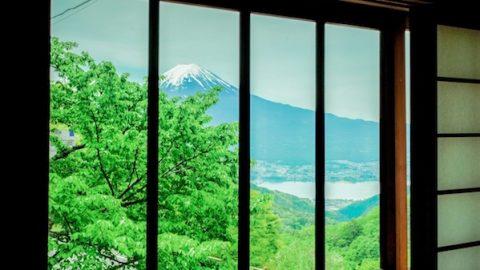 太宰治記念館からの富士山