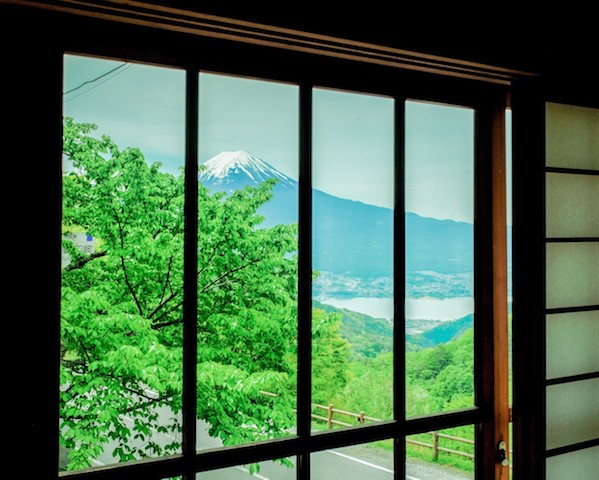 [写真日記]「太宰治記念館からの富士山」と「鯉」