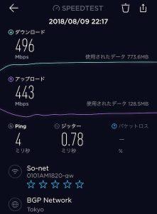NURO通信速度