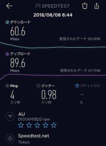 KDDI通信速度