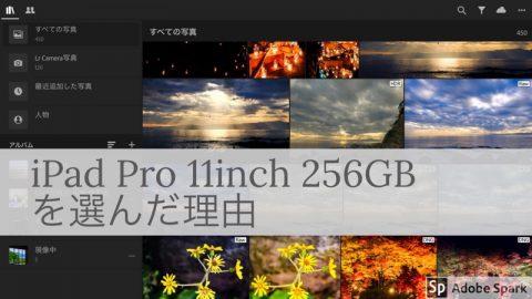 [iPad Pro]11inch 256GB Wi-Fi スペースグレイを選んだ理由