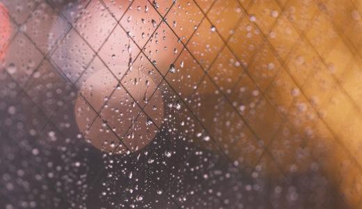 [写真]渋谷の窓の水滴とイルミネーション(X-Pro3 )
